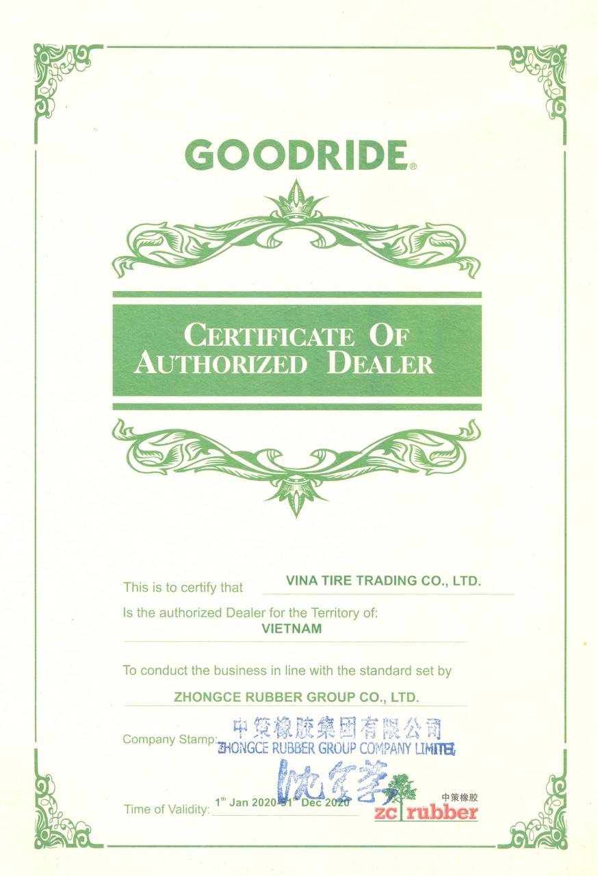 Vinatire nhận phân phối độc quyền lốp xe tải Goodride tại Việt Nam